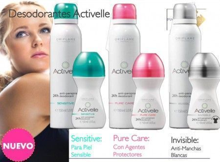 desodorantes activelle oriflame