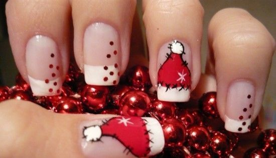 Diseños de uñas para Navidad  Manicuras-divertida-Navidad-550x315