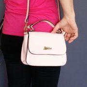 Bolso rosa palo puesto