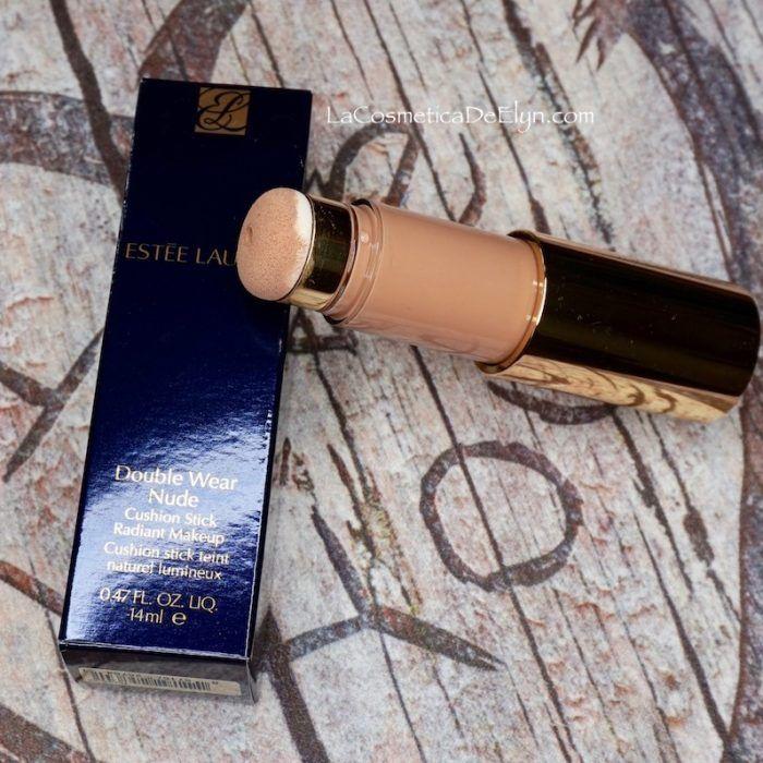 Base de Maquillaje Double Wear Nude Cushion Stick de Estée Lauder. Review