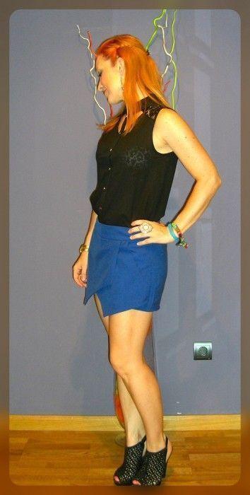 falda pantalon asimetrica