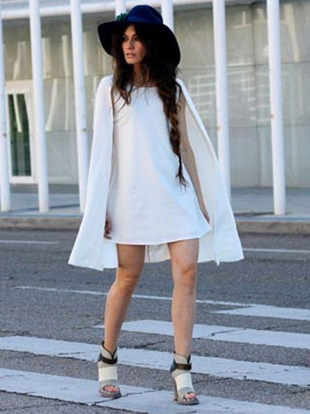 White_Chiffon_Cloak_Dress___Choies