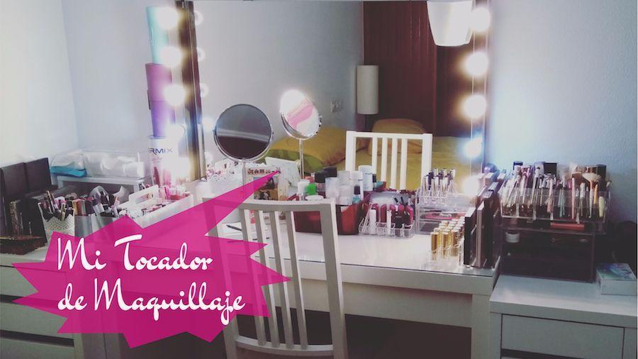 Mi tocador de maquillaje y c mo organizo toda mi cosm tica - Habitacion con tocador ...