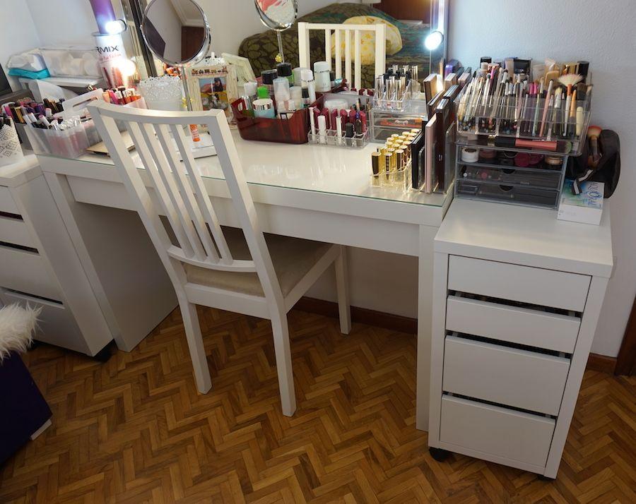 Mi tocador de maquillaje y c mo organizo toda mi cosm tica - Ideas para hacer un tocador ...