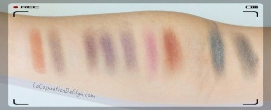 swatches paleta in the night W7