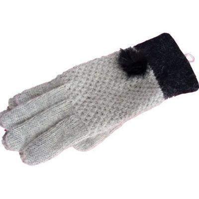 guante de lana color hueso