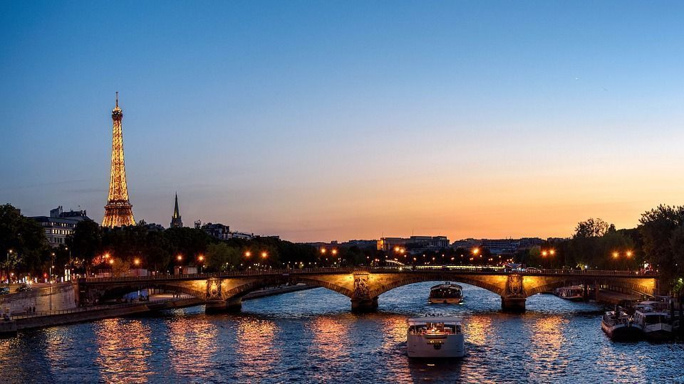 Sunset Landmark Eiffel Tower Architecture