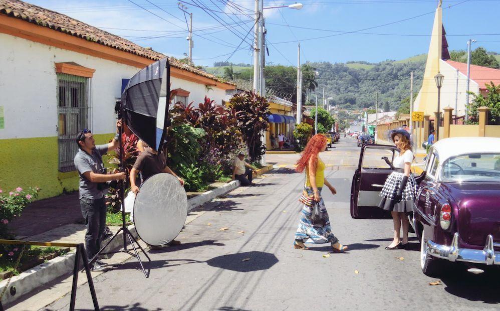 sesión de fotos en la calle