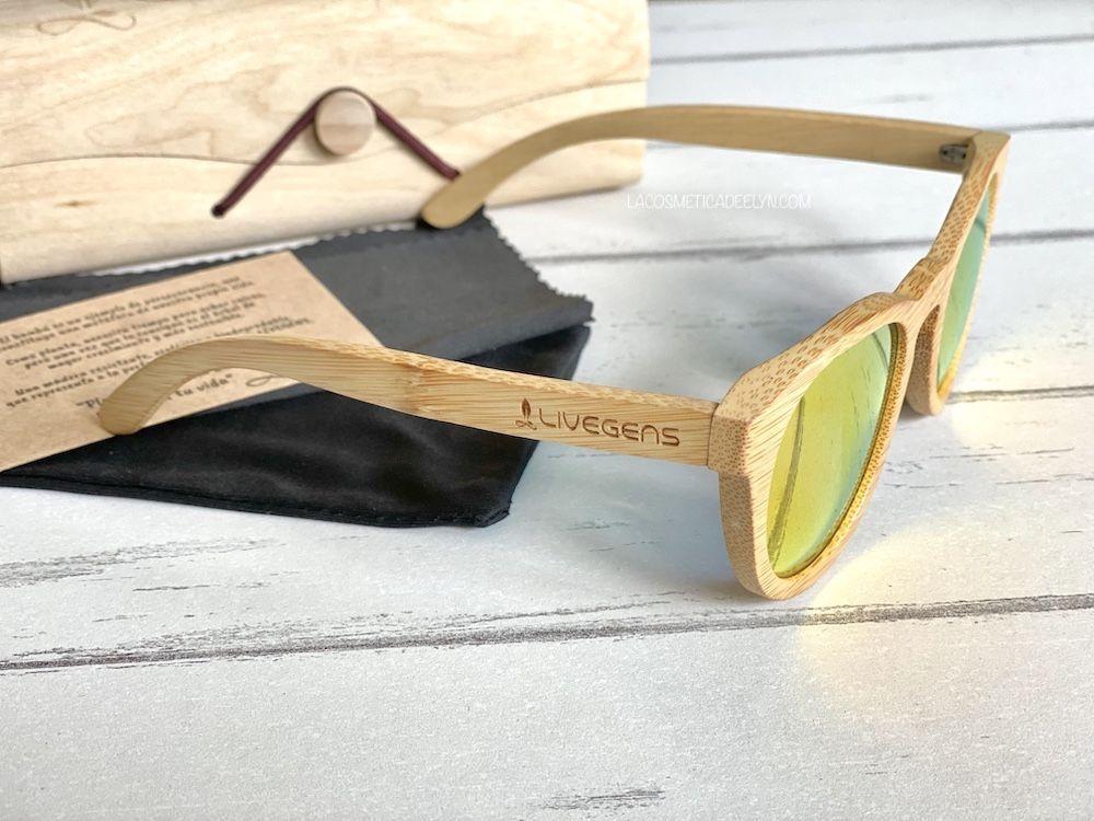 gafas de bambú