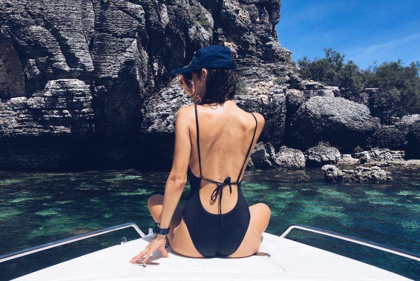 bikini color azul
